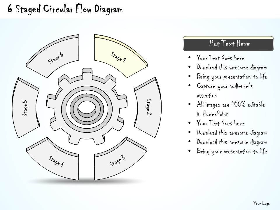 2014 Business Ppt Diagram 6 Staged Circular Flow Diagram