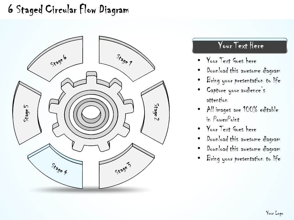 2014 Business Ppt Diagram 6 Staged Circular Flow Diagram