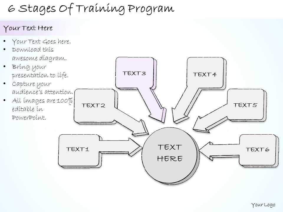 2502 Business Ppt Diagram 6 Stages Of Training Program