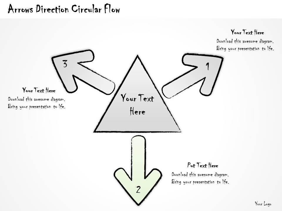 2502 Business Ppt Diagram Arrows Direction Circular Flow