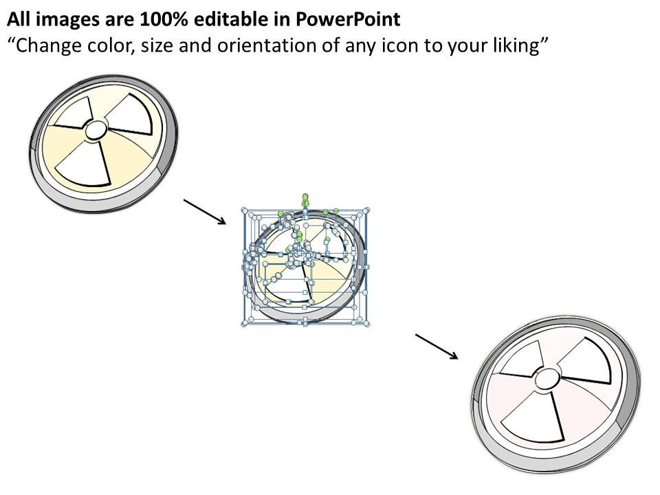 2502 Business Ppt Diagram Nuclear Power Circles Diagram
