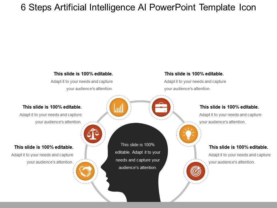 6 Steps Artificial Intelligence Ai Powerpoint Template