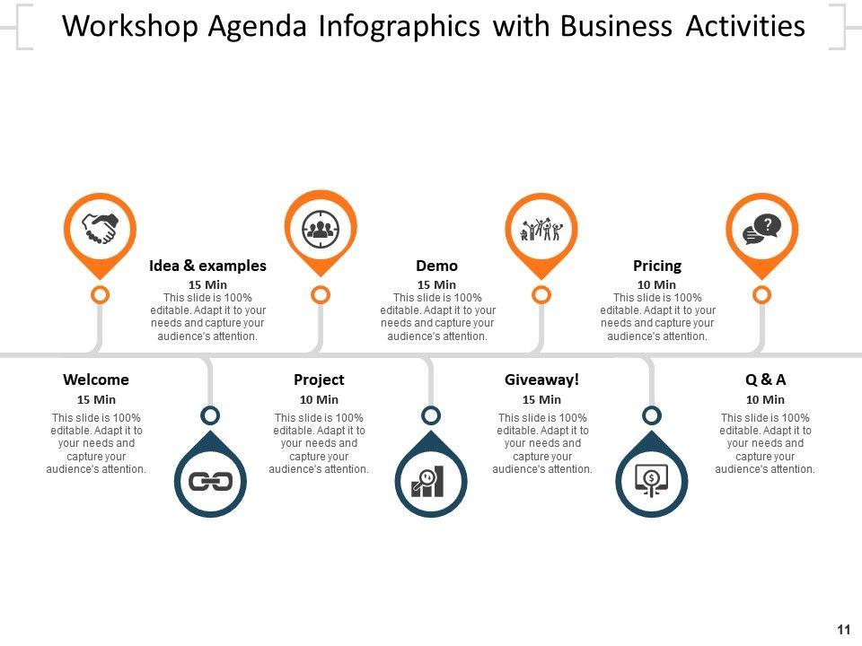Agenda Infographics Business Meeting Timeline Roadmap