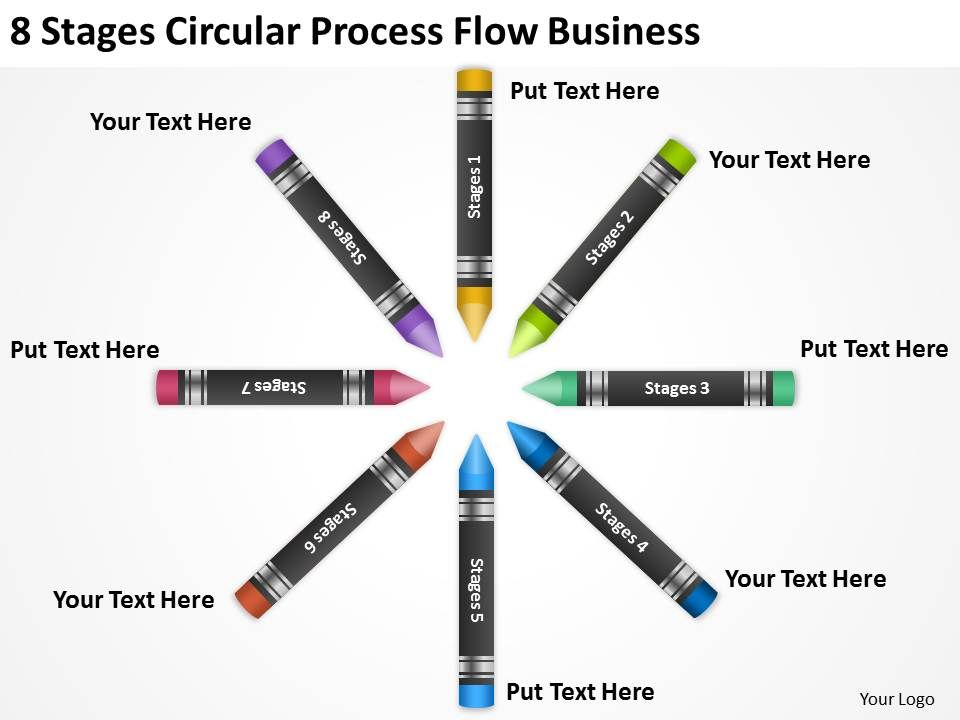 Business Flow Chart 8 Stages Circular Process Powerpoint