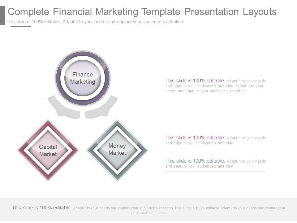 Complete Financial Marketing Template Presentation Layouts