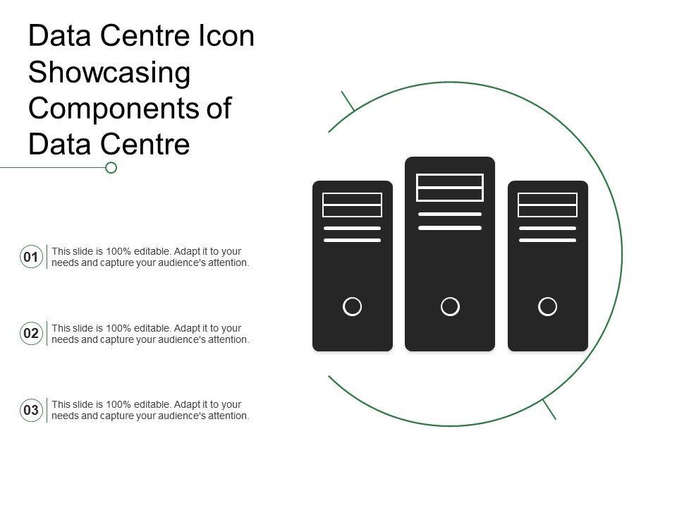 Data Centre Icon Showcasing Components Of Data Centre