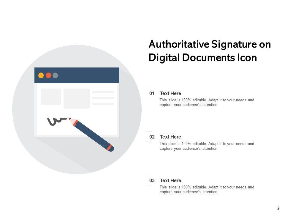 Digital Documents Authoritative Signature Certificate
