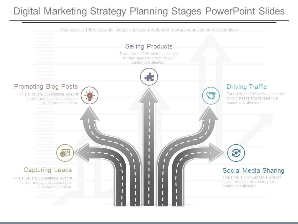 Digital Marketing Strategy Planning Stages Powerpoint