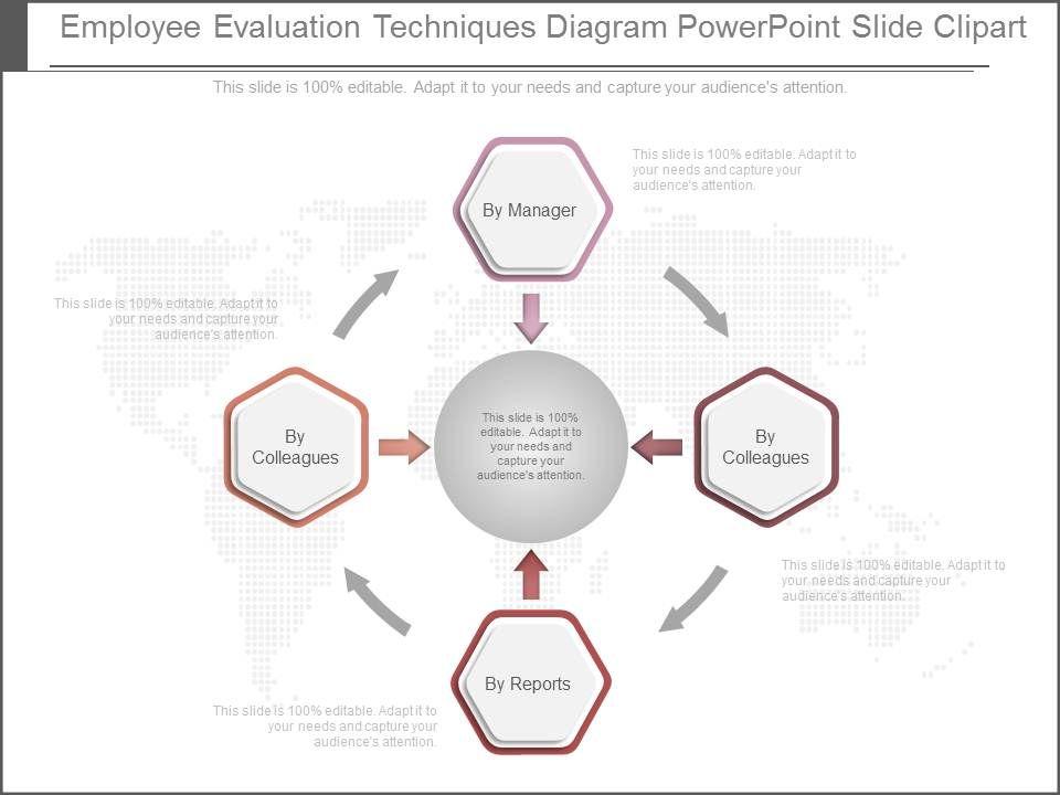 Employee Evaluation Techniques Diagram Powerpoint Slide