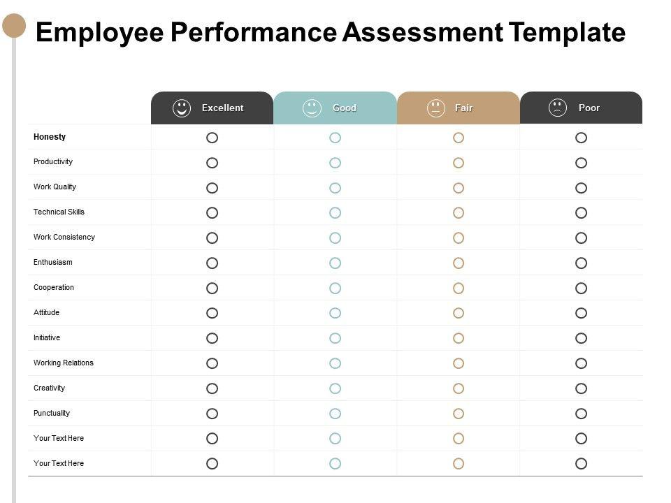 Employee Performance Assessment Template Technical Skills
