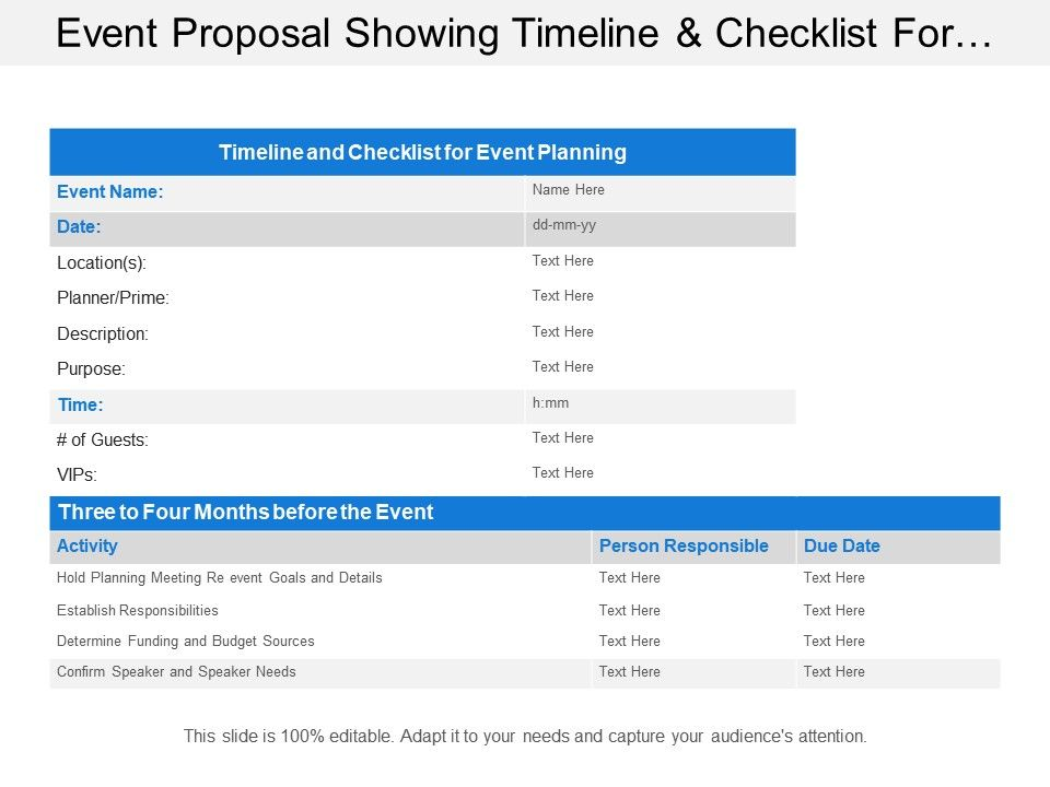 """Home home & living grocery shopping always have an answer to the question """"what's for dinner"""" with this b. Event Proposal Showing Timeline And Checklist For Event Planning Powerpoint Templates Download Ppt Background Template Graphics Presentation"""