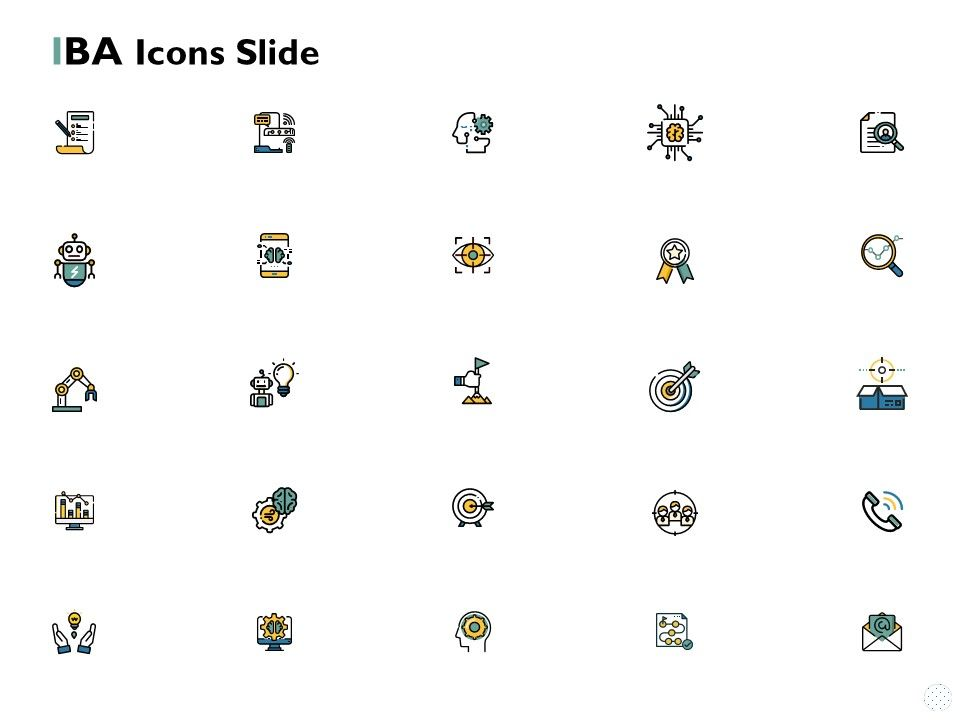 Iba Icons Slide Vision Ppt Powerpoint Presentation Diagram