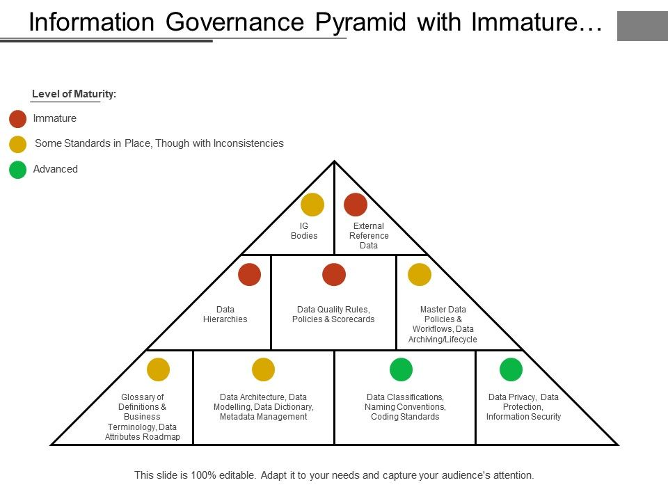 Information Governance Pyramid With Immature