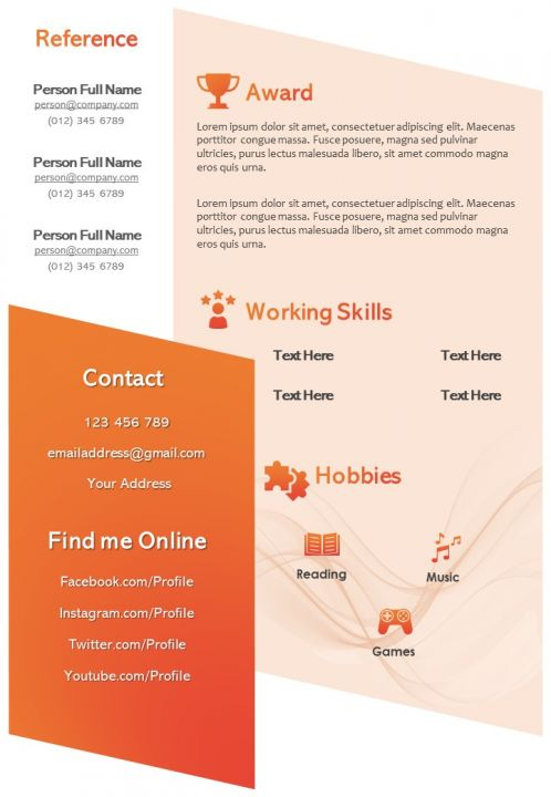 Then, better still, we interviewed. Interactive Resume Visual Template For Self Introduction Powerpoint Slides Diagrams Themes For Ppt Presentations Graphic Ideas