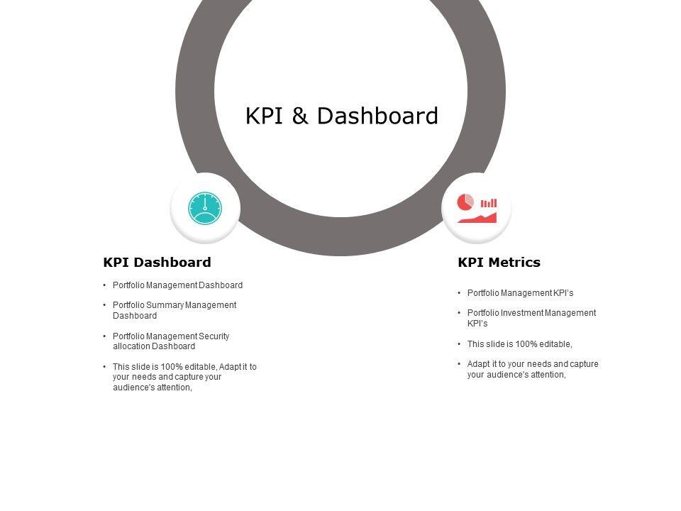 KPI And Dashboard Metrics Ppt Powerpoint Presentation