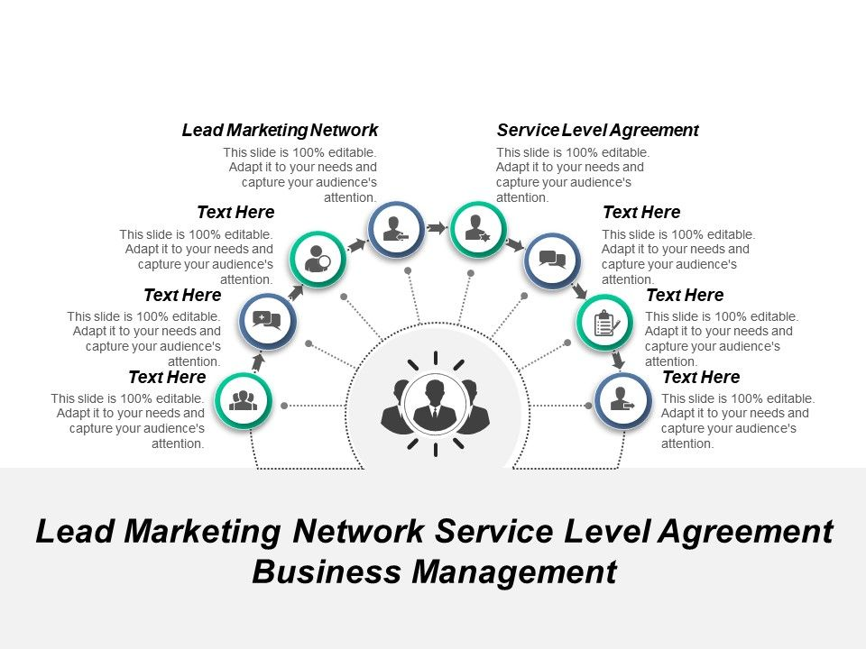 An example service level agreement template can be found below. Lead Marketing Network Service Level Agreement Business Management Cpb Presentation Powerpoint Templates Ppt Slide Templates Presentation Slides Design Idea