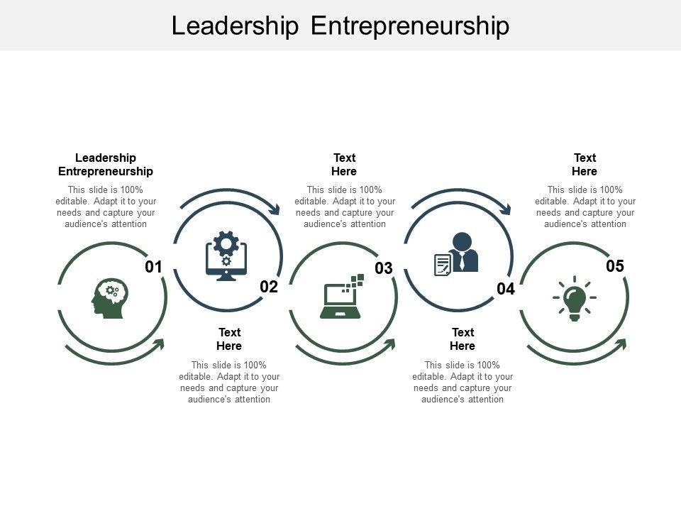 Leadership Entrepreneurship Ppt Powerpoint Presentation