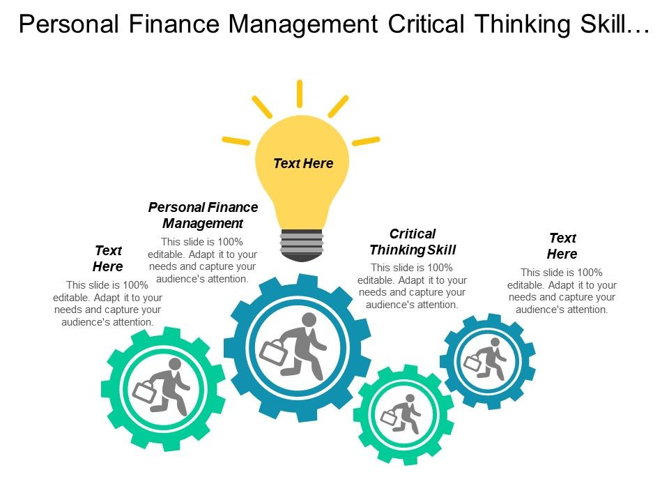 Personal Finance Management Critical Thinking Skill Negotiation Management Cpb Powerpoint