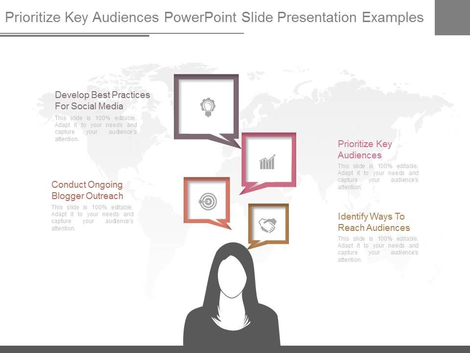 Prioritize Key Audiences Powerpoint Slide Presentation