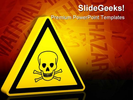 hazardous poison sign industrial powerpoint templates and powerpoint backgrounds 0311