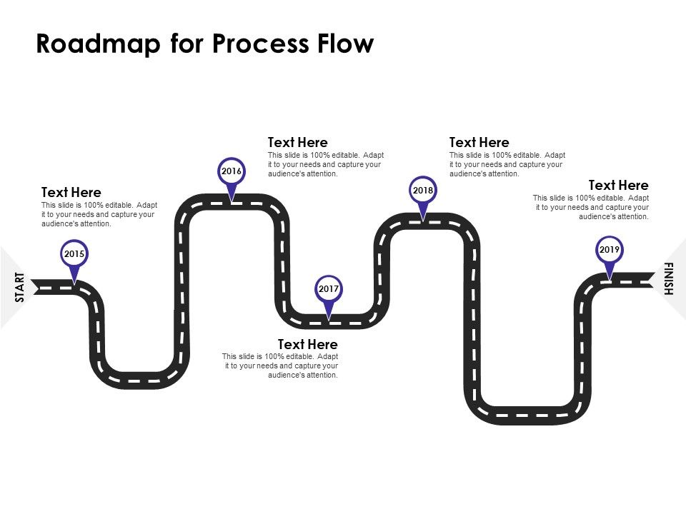 Roadmap For Process Flow 2015 To 2019 Ppt Presentation