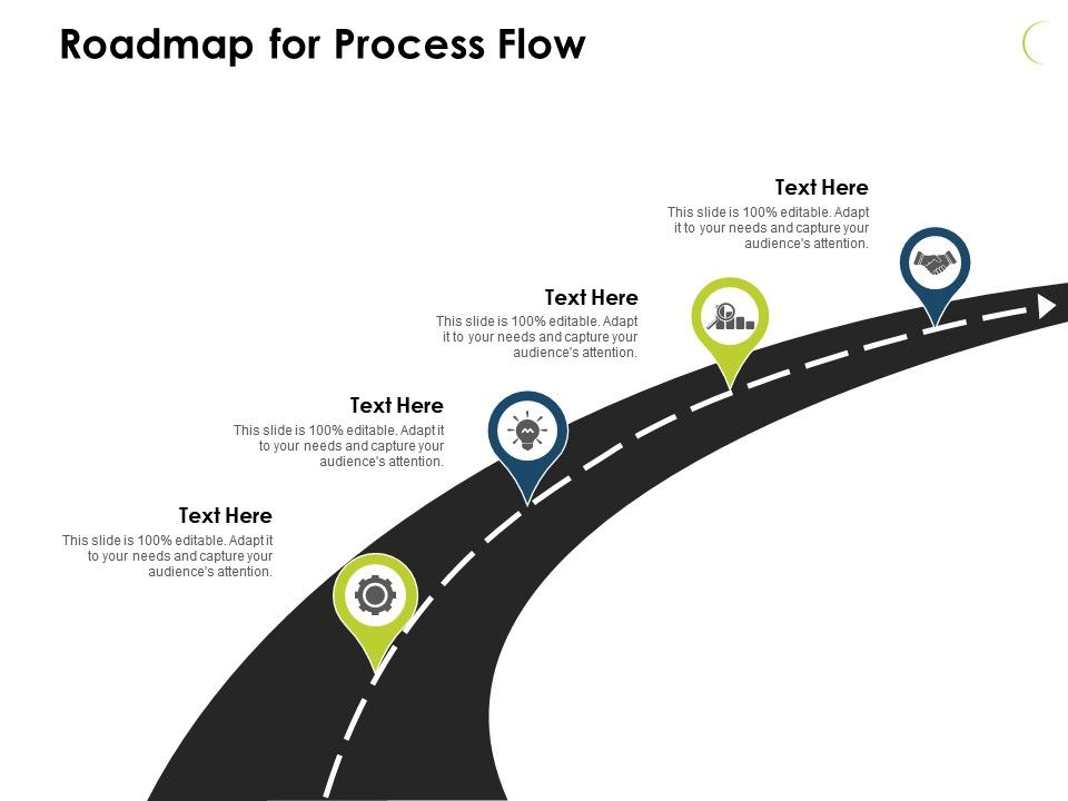 Roadmap For Process Flow Icons J 59 Ppt Powerpoint