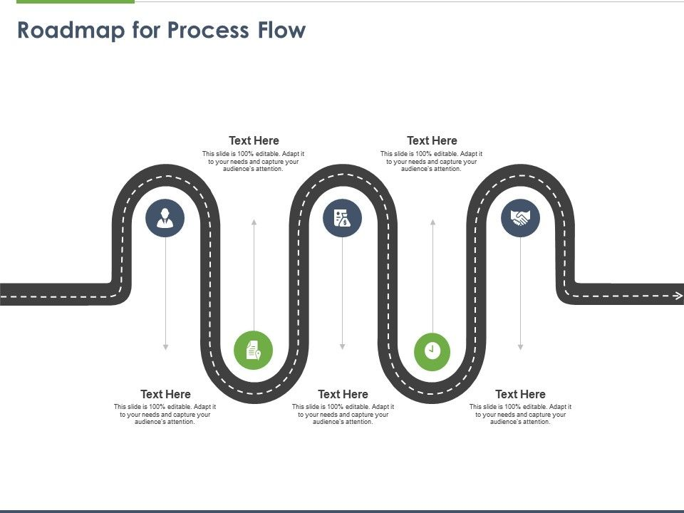 Roadmap For Process Flow M134 Ppt Powerpoint Presentation