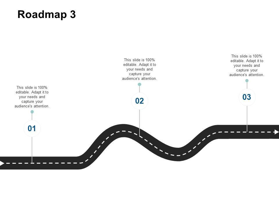 Roadmap Three Timeline F446 Ppt Powerpoint Presentation