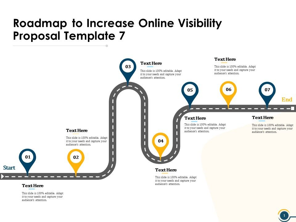 Roadmap To Increase Online Visibility Proposal Template
