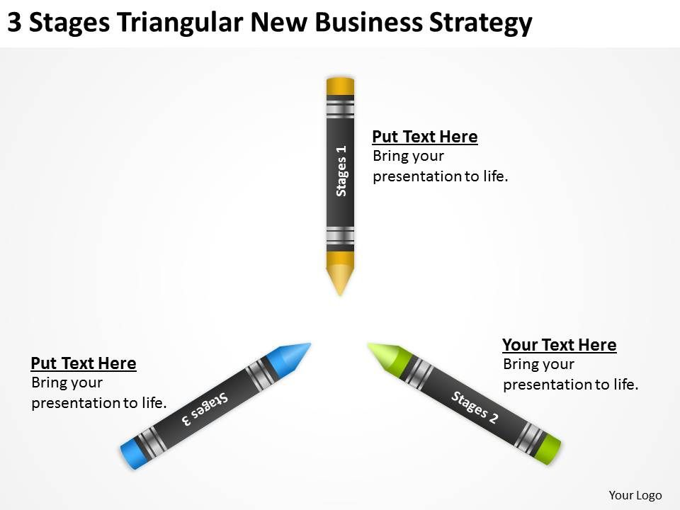 Sample Business Model Diagram 3 Stages Triangular New