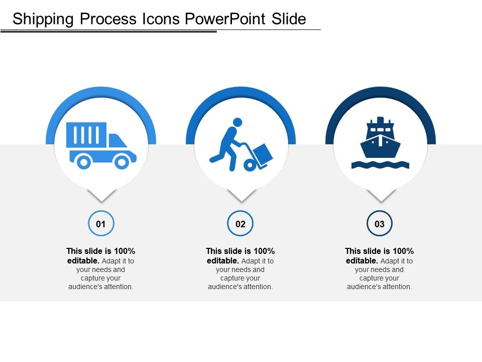 shipping process icons powerpoint