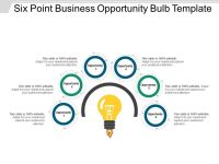 Six Point Business Opportunity Bulb Template Powerpoint ...