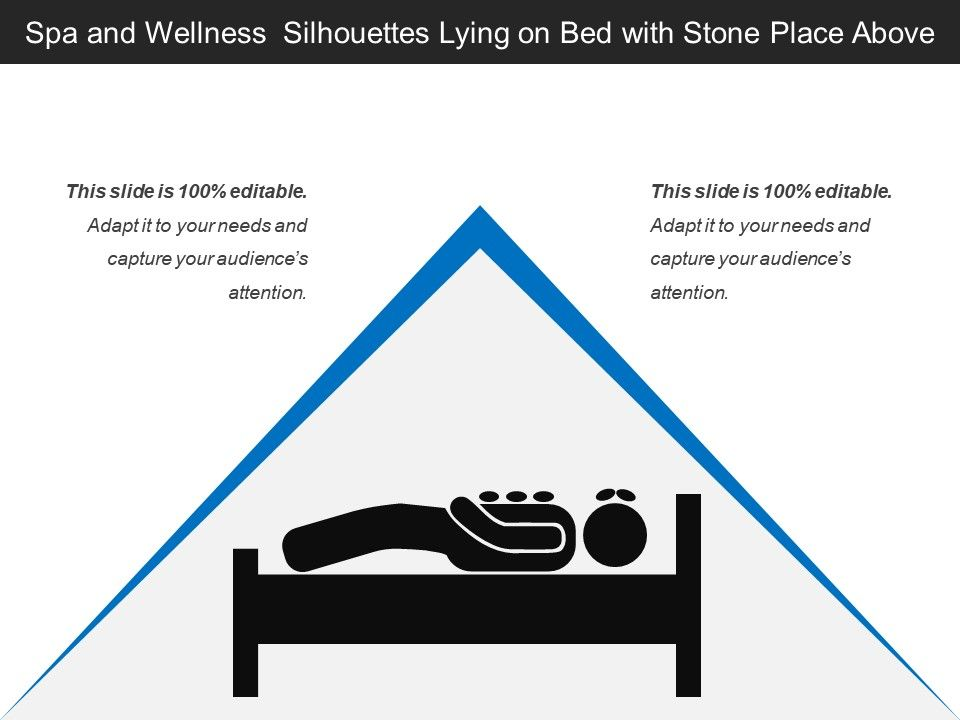 Spa And Wellness Silhouettes Lying On Bed With Stone Place