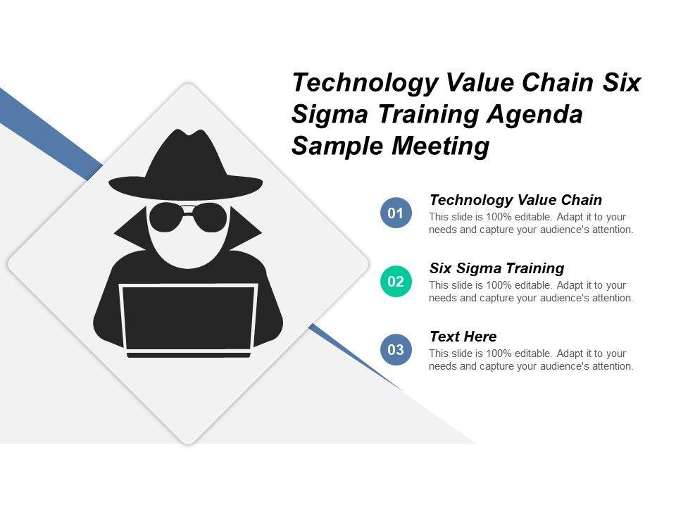 Technology Value Chain Six Sigma Training Agenda Sample