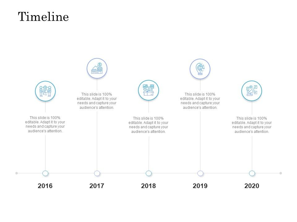 Timeline 2016 To 2020 L1030 Ppt Powerpoint Presentation