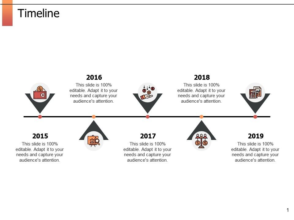 Timeline Five Year Process Ppt Powerpoint Presentation
