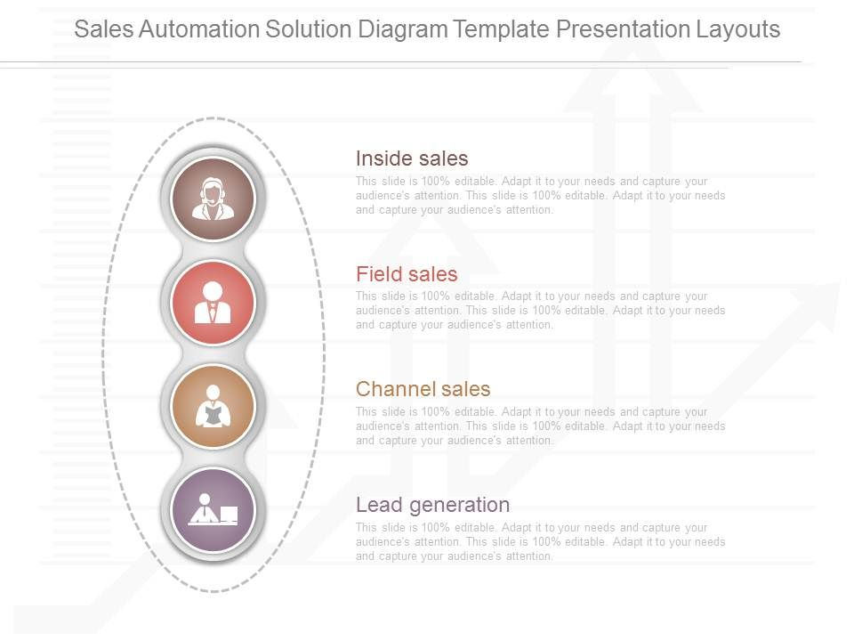 View Sales Automation Solution Diagram Template