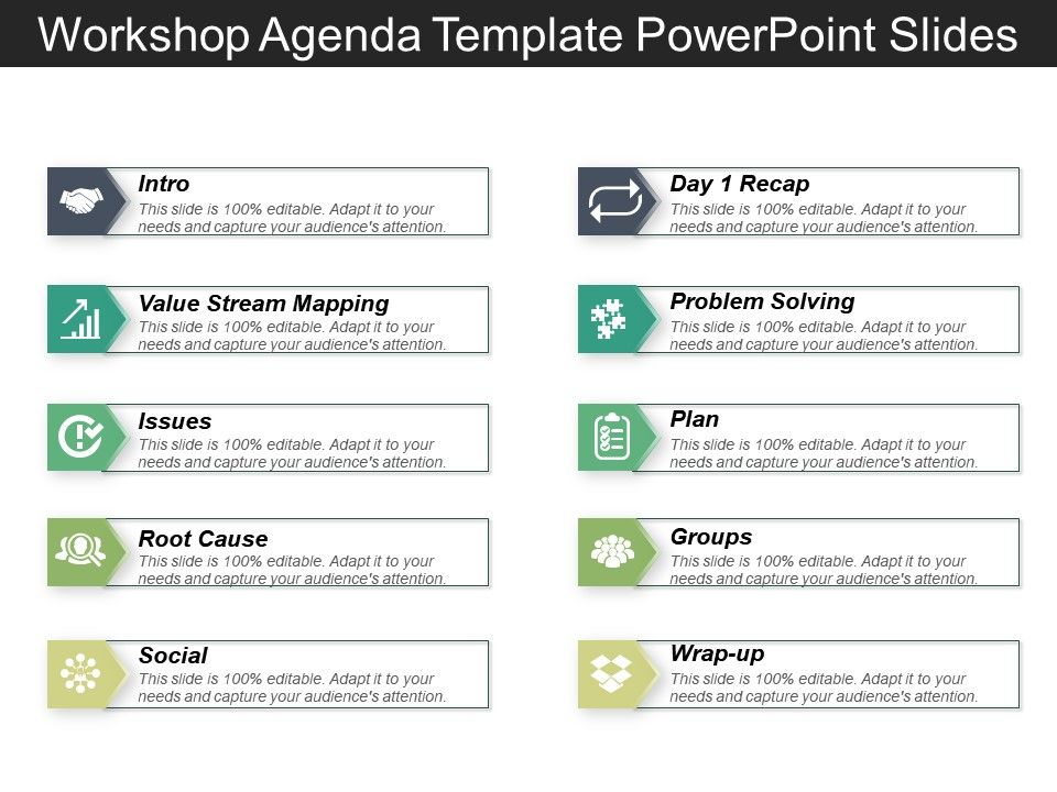 Whether you need to put the specific time, date, headings, labels, and all else, always be particular with the details that reflect in your workshop agenda. Workshop Agenda Template Powerpoint Slides Powerpoint Design Template Sample Presentation Ppt Presentation Background Images