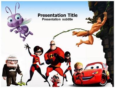 Disney Powerpoint Template Slide World