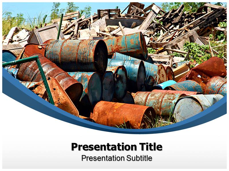 Solid Waste PowerPoint Template - Slum PPT Backgrounds - Slideworld.com