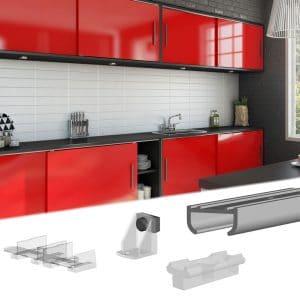 slid up 100 sliding cabinet door hardware kit