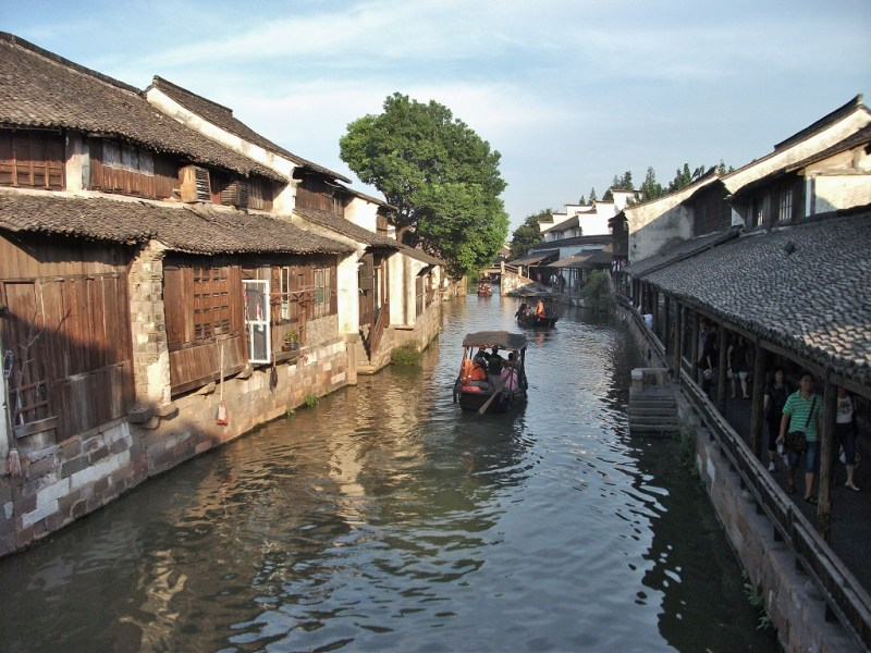 the charming little canal town of Wuxi in China