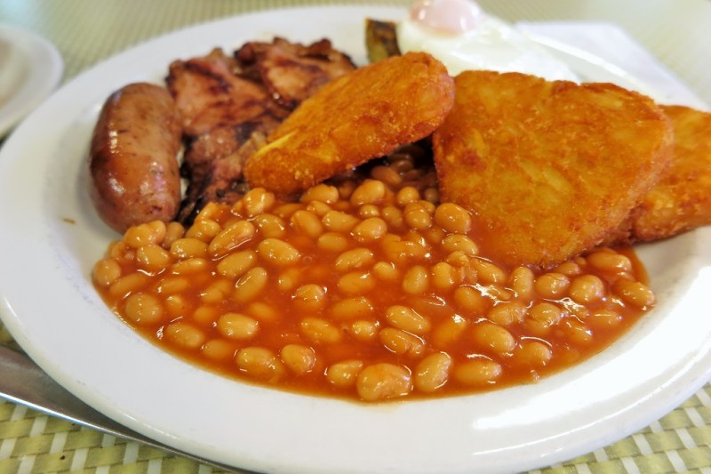 English breakfast beans