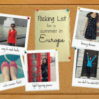 Packing List, Part Deux: Summer in Europe