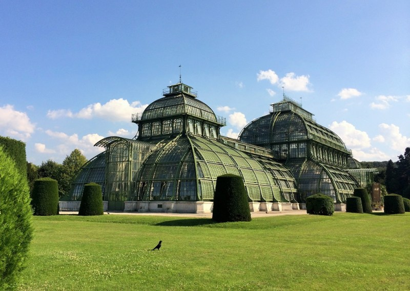 on the way to the zoo entrance, you will pass by beautifully manicured gardens and the mother of all greenhouses!