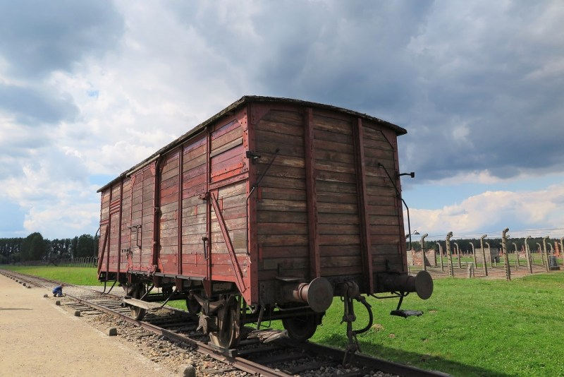 a typical cattle car that people came in. I read in D's grandfather's memoir that he arrived at his camp in a car like this. He was there for 3 days with no food or water. Sometimes, people were in here for a week.