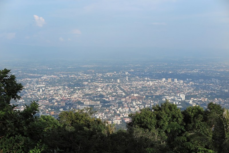 view of the whole of Chiang Mai from Wat Doi Suthep