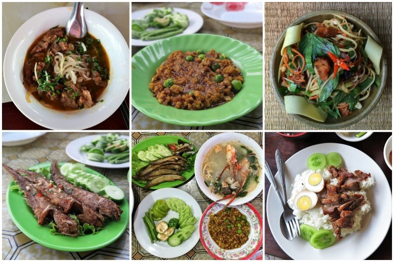 Khmer foods collage