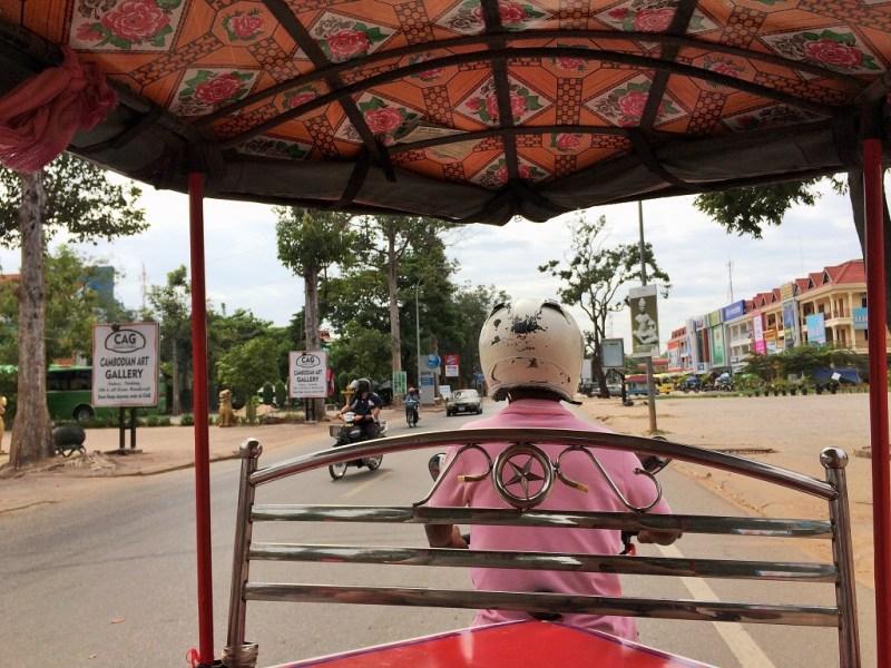 riding on tuk-tuk