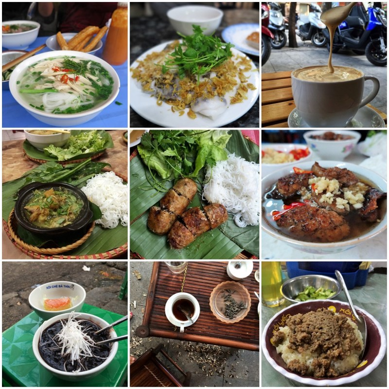 Hanoi food collage